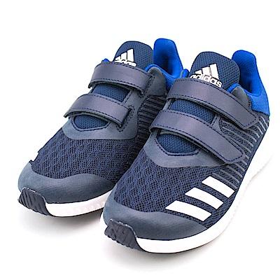 24H-ADIDAS-中童鞋CQ0001-藍