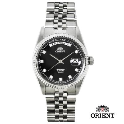 ORIENT 東方錶 WILD CALENDAR系列 蠔式型機械錶-黑/36.5mm