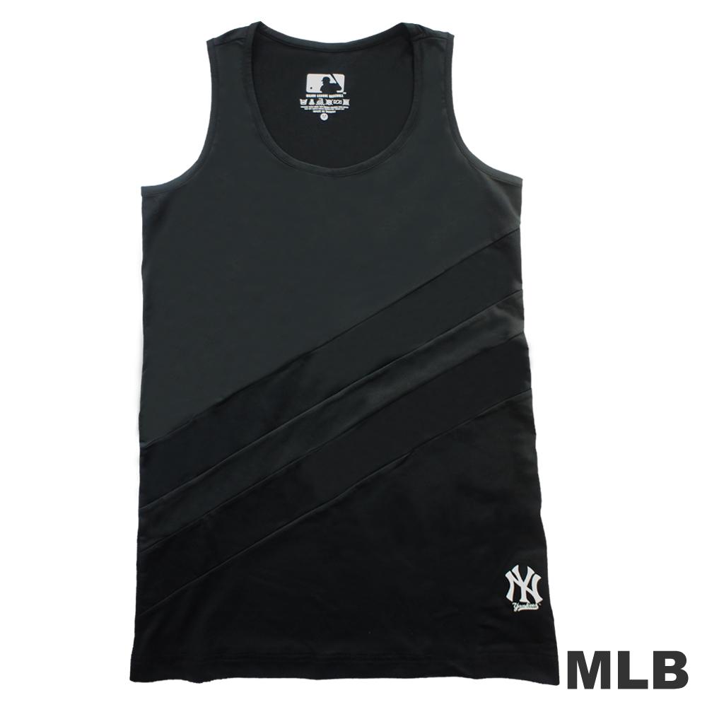 MLB-紐約洋基隊運動長版背心-黑(女)