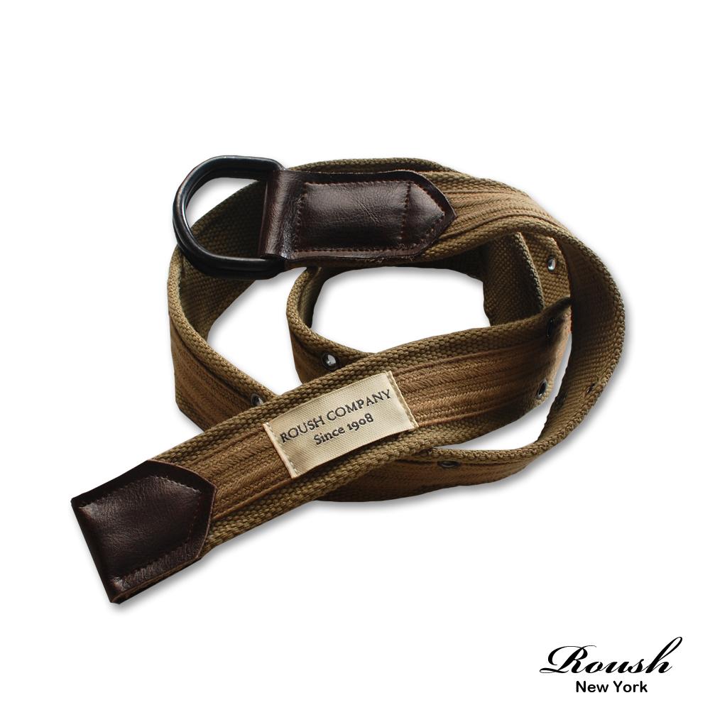 【 Roush 】精緻盒裝皮標設計麻繩皮帶 (2色)