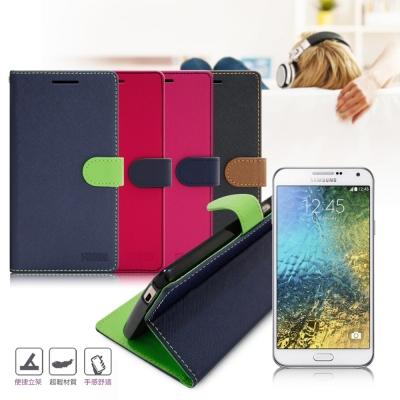 台灣製造 FOCUS Samsung Galaxy E7 糖果繽紛支架側翻皮套