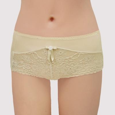 曼黛瑪璉 包覆提托Hibra大波  低腰平口萊克內褲(典雅膚)