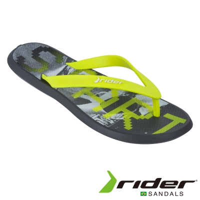 Rider 巴西 男 ENERGY V AD 時尚機能夾腳拖 (塗鴉黃)