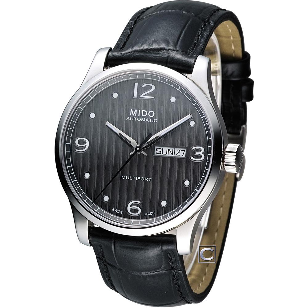 MIDO 美度 Multifort系列尊爵機械錶-黑灰/42mm