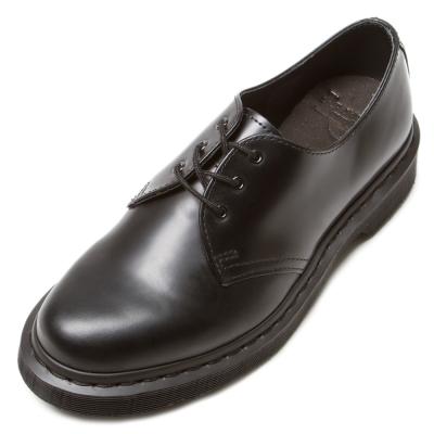 Dr.Martens-經典MONO3孔馬汀馬丁鞋-男款-黑色