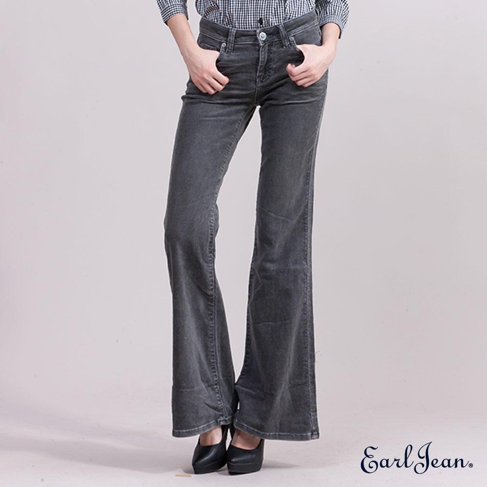 福利品 Earl Jean低腰緊身喇叭褲-女-黑