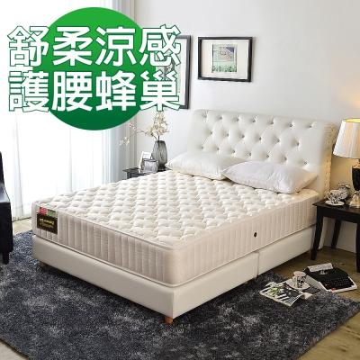 Ally愛麗 舒柔涼感 護腰型 抗菌蜂巢式獨立筒床 雙人5尺