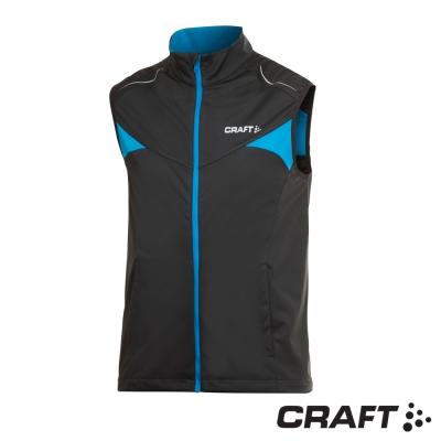 【瑞典 Craft】男款 PXC HIGH 風暴 保暖防風跑步背心_黑/藍