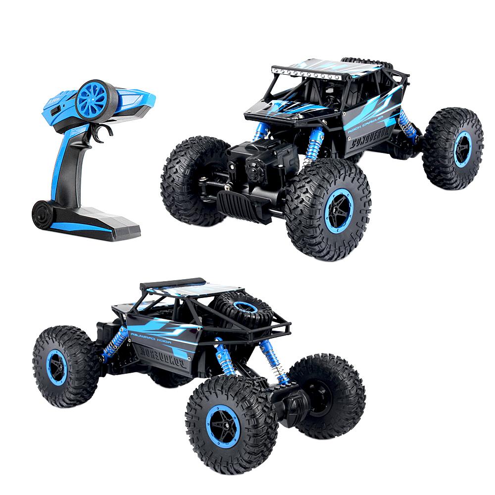 《Rock Crawler》1:18模型2.4G四輪驅動遙控越野沙灘車 附全套充電配備