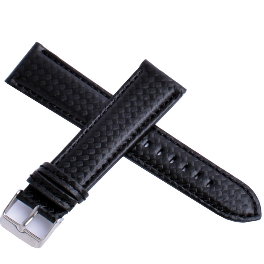 精製纇碳纖維Carbon高抗水錶帶-黑色