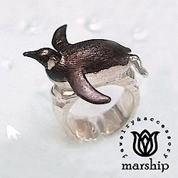Marship 日本銀飾品牌 國王企鵝戒指 925純銀 亮銀款
