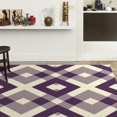 范登伯格 - 艾薇兒 多變視覺地毯 - 菱格 (紫 - 160 x 230cm)