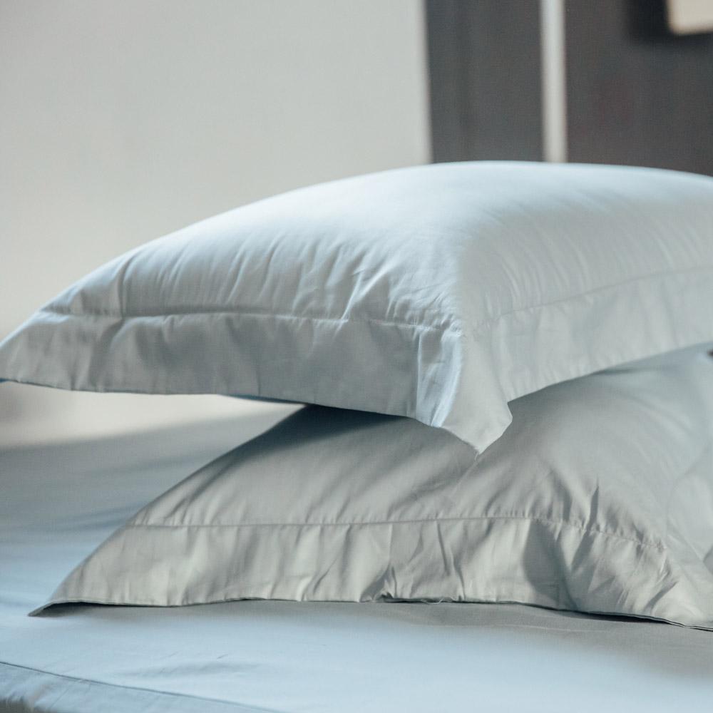 LAMINA 純色-淺灰藍 精梳棉枕頭套-2入 @ Y!購物