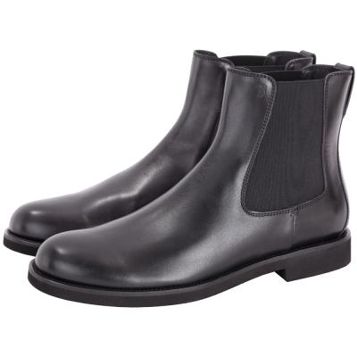 TOD'S 鬆緊拼接小牛皮中筒靴(男鞋/黑色)