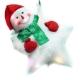 交換禮物-聖誕LED燈25燈雪人抱星星造型燈吊飾SCL-49(插電式-自動閃爍變換光色) product thumbnail 1