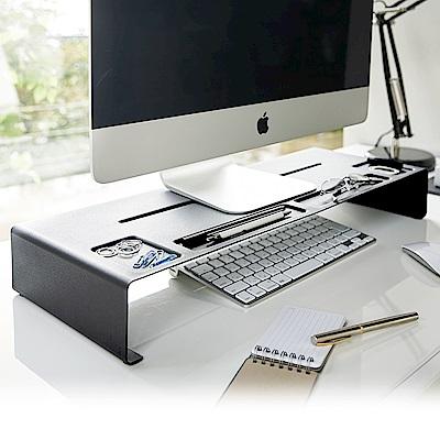【YAMAZAK】tower 桌上型螢幕置物架-黑★置物架/收納架/辦公室用品/書房用品