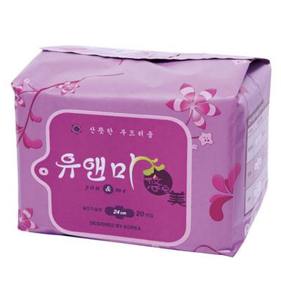 悠安美漢方衛生棉-日用24cm(20片x6入裝)