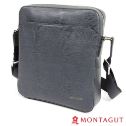 MONTAGUT夢特嬌-Cross Bag頭層牛皮橫式側包(水波紋)-直式