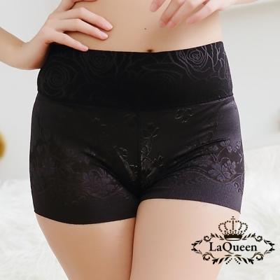 塑褲  細緻提花蠶絲無痕修飾褲-黑 La Queen