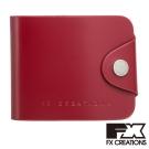 FX CREATIONS JCW系列 扣式皮夾 紅 JCW55779-89