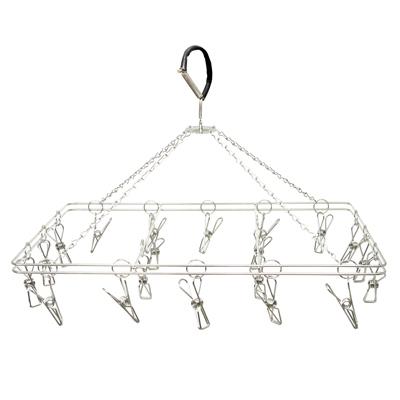 MIT不鏽鋼曬衣吊掛架(方20夾)-2入組