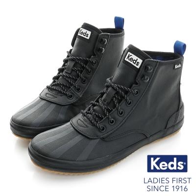 Keds 全天後機能高統綁帶休閒鞋-黑色