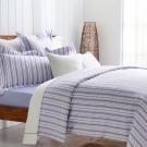 Cozy inn 生活-藍 300織精梳棉四件式兩用被床包組(雙人)