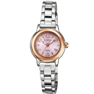 SHEEN 優雅時尚太陽能都會腕錶(SHE-4502SBG-4A)-粉/22mm
