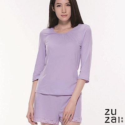zuzai 自在絲感奇蹟長袖上衣-女-淺紫色
