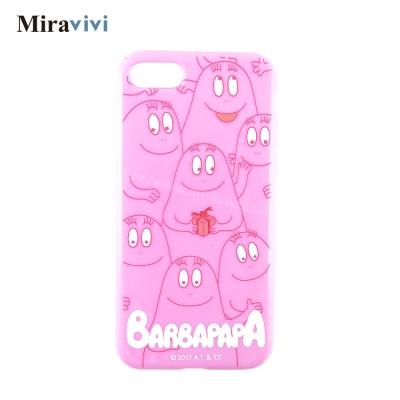 BARBAPAPA泡泡先生iPhone 8/7(4.7吋)粉色空壓保護套