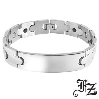 FZ  雅痞型男鍺磁石白鋼手鍊