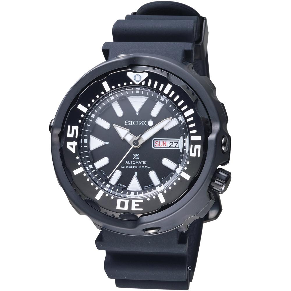 SEIKO 精工 Prospex鮪魚罐頭潛水機械錶(SRPA81J1)黑/51mm