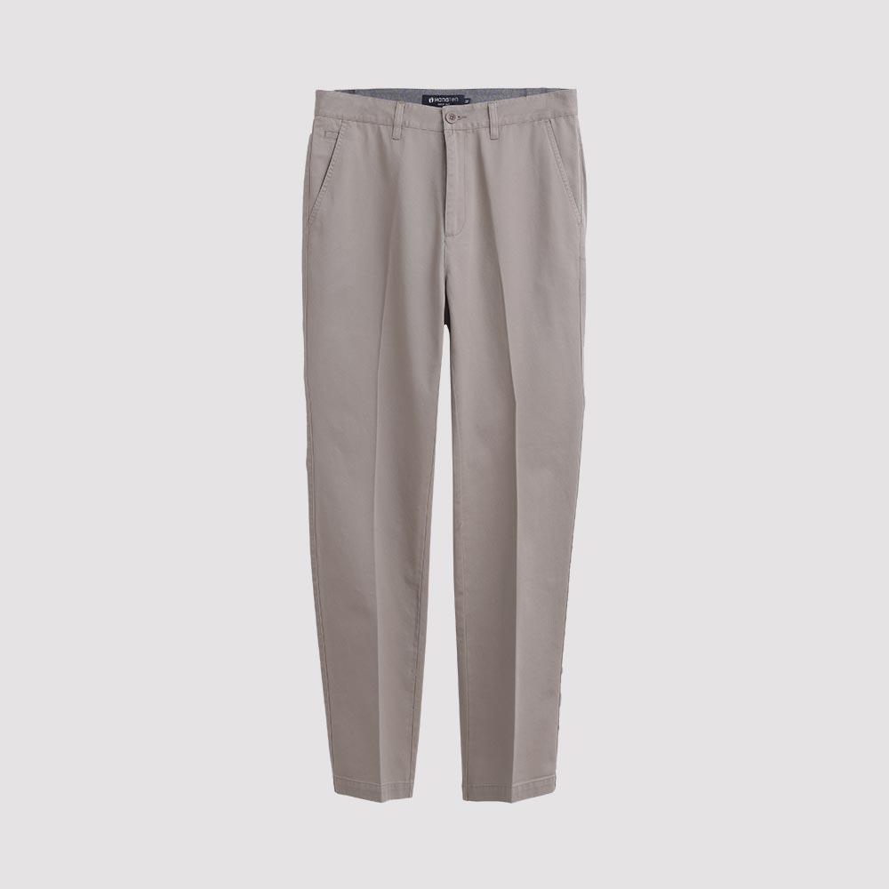 Hang Ten - 男裝 - 基本純色休閒褲 - 灰褐