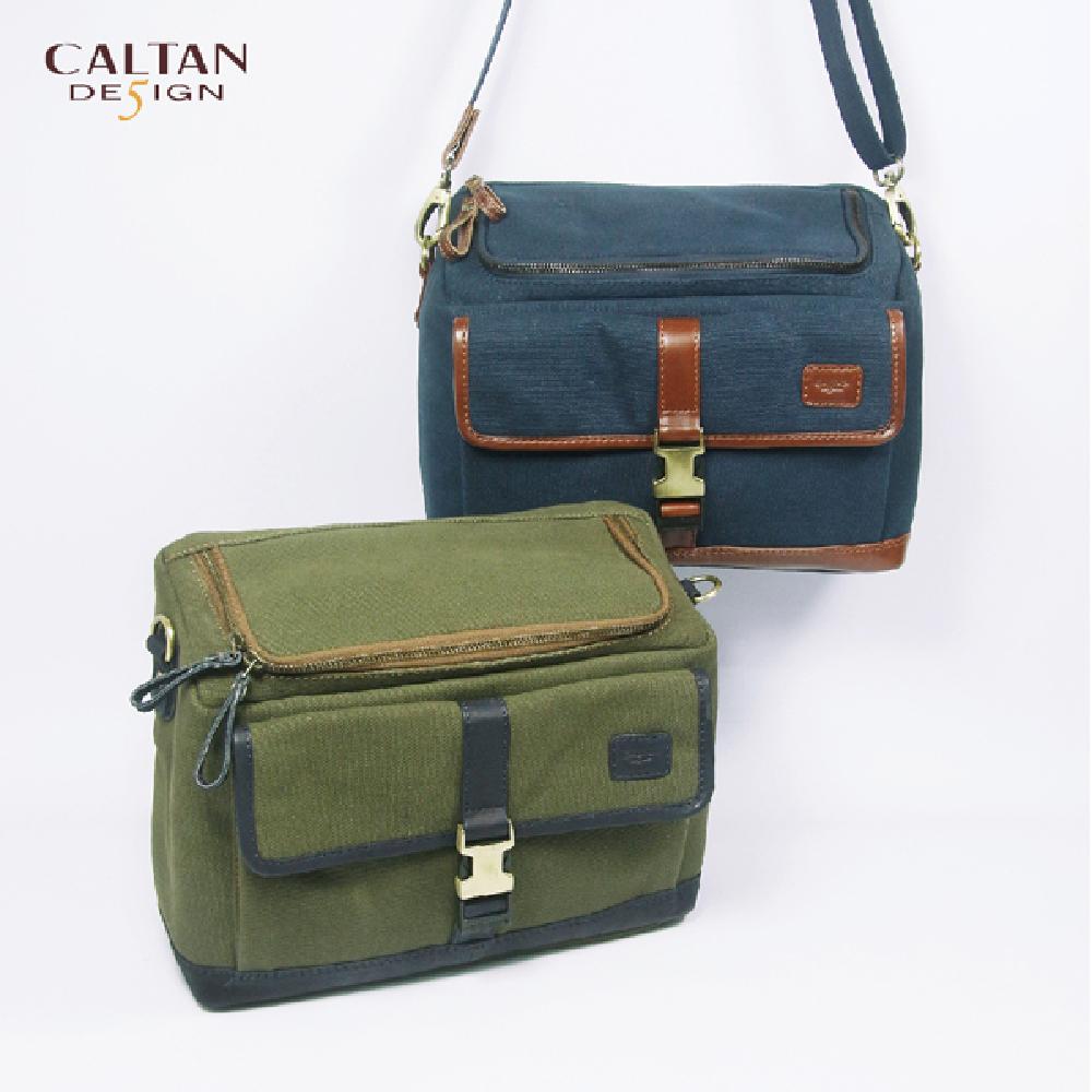 CALTAN-女用真牛皮 帆布包 相機包 斜背包 肩背包 攝影背包-807系列