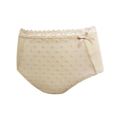 曼黛瑪璉-好神波Bra-高腰三角棉褲-暖駝膚