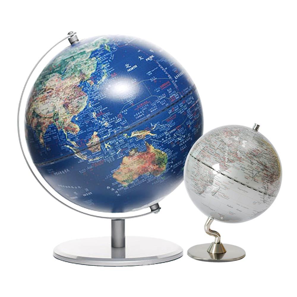 SkyGlobe 10吋衛星金屬手臂地球儀+5吋地球儀(共三款)