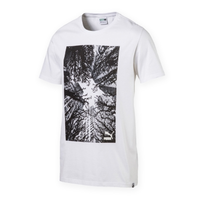 PUMA-男性流行系列城市圖短袖T恤-白色-亞規