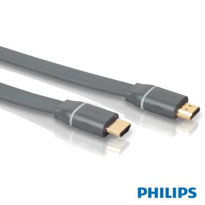 PHILIPS 3米專家型HDMI協會認證高速版扁線線材(SWV4437S)