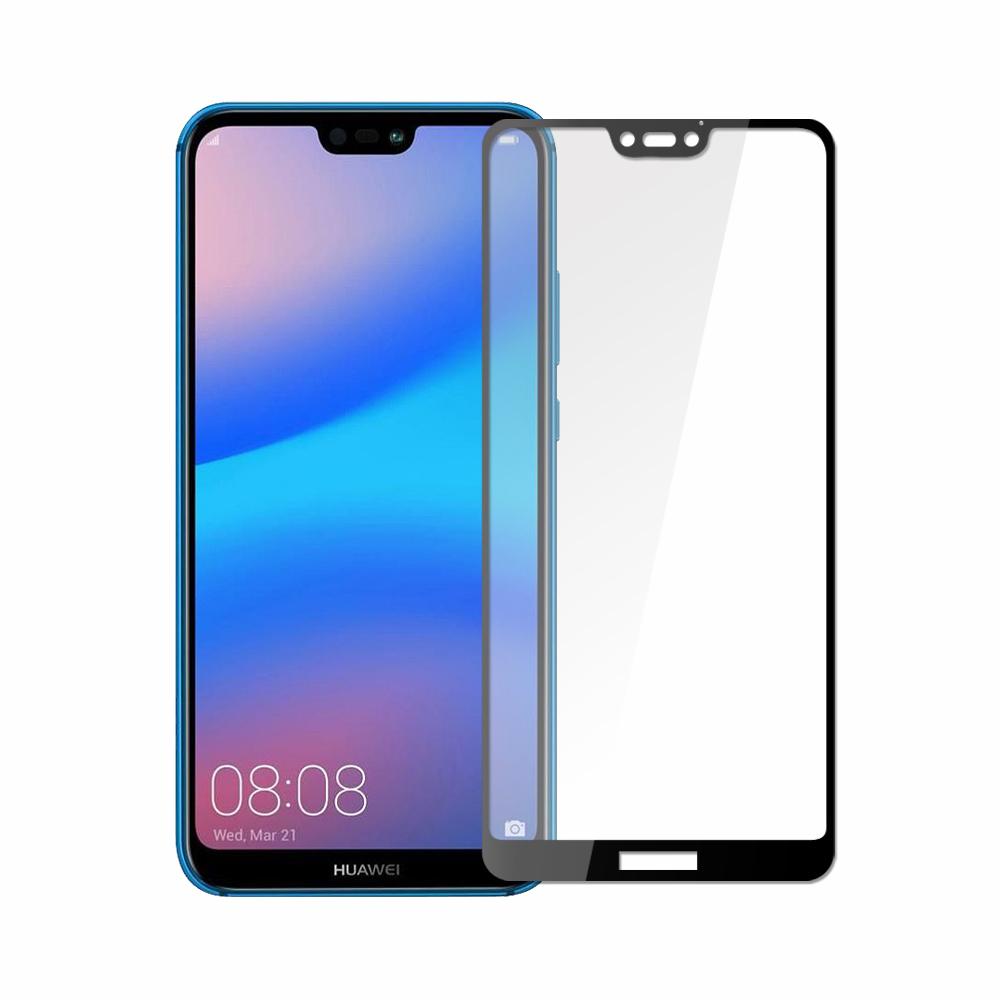 【SSTAR】HUAWEI nova 3e (5.8吋)全膠滿版9H鋼化日規玻璃保護貼-黑
