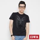 EDWIN 帥氣騎士印花短袖T恤-男-黑色