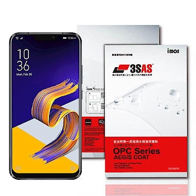 iMos ASUS Zenfone 5/5Z 3SAS 疏油疏水 螢幕保護貼