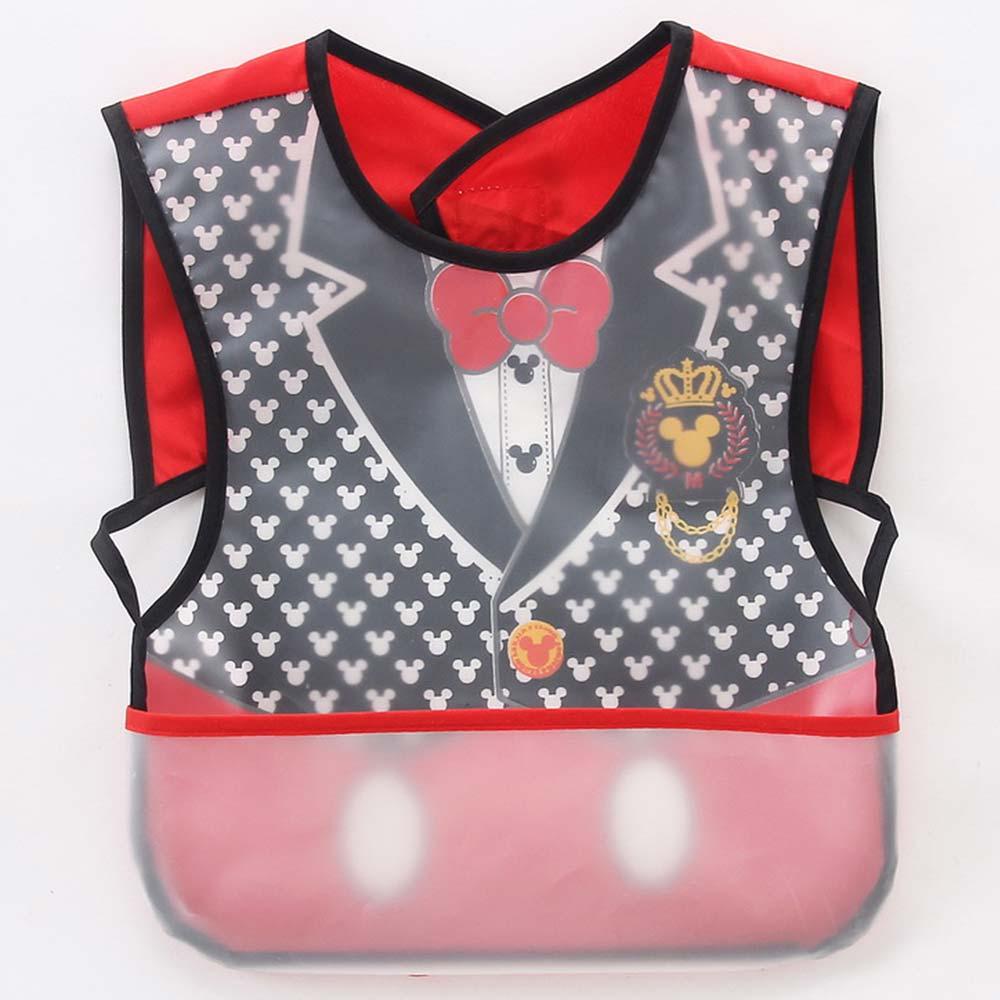 Baby unicorn 紅黑米奇西裝造型防水圍兜口水巾