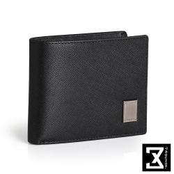 74盎司 Cross 十字紋橫式短夾(零錢袋)[N-552]黑