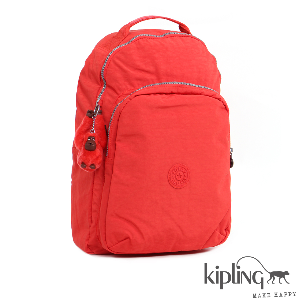 Kipling 後背包 柿子橙