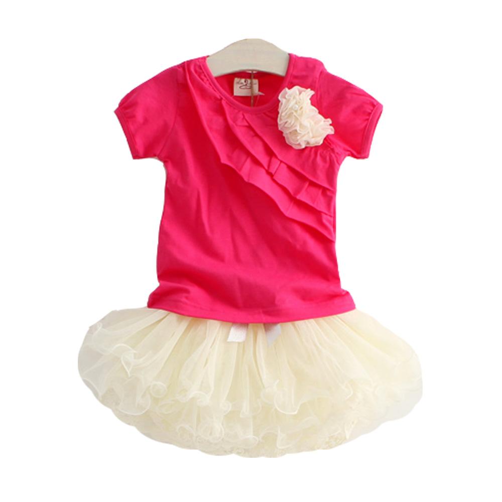 魔法Baby 短T蕾絲裙套裝 k35636