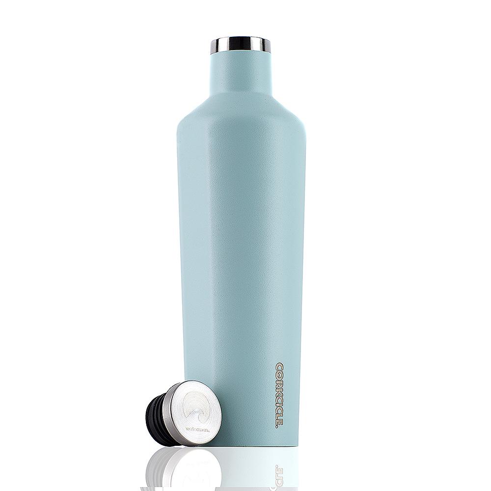 CORKCICLE 酷仕客Waterman戶外系列三層不鏽鋼易口保溫瓶-740ml (冰河藍)