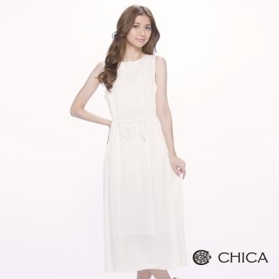 CHICA 希臘典雅純白輕透小洋裝(1色)