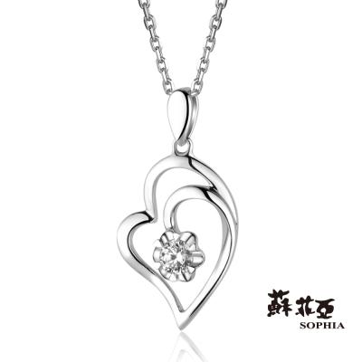 蘇菲亞SOPHIA 鑽石項鍊-愛戀心鑽0.05克拉鑽鍊