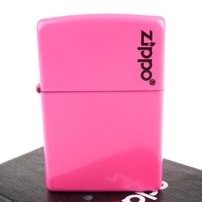 【ZIPPO】美系~LOGO字樣打火機-Neon Pink-霓虹粉色烤漆加工