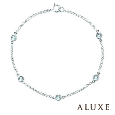 A-LUXE 亞立詩 18K金0.15克拉鑽石手鍊